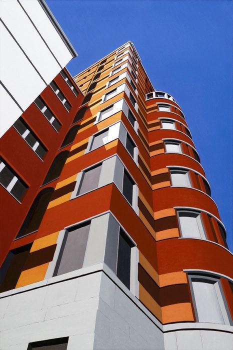 Milano Torre Ponti Lancia, 2011, olio su tela, 120x80 cm