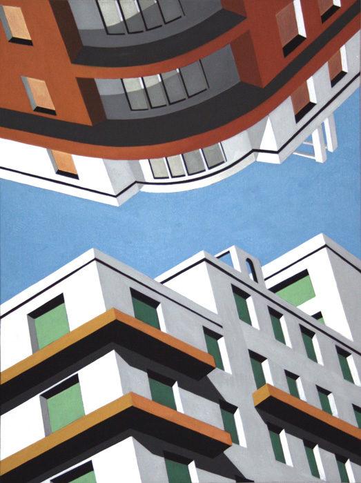 Upside Down, 2012, olio su tela 80x60 cm