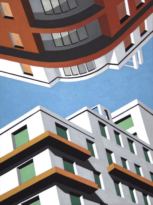Upside Down, 2012, olio su tela, 80x60 cm