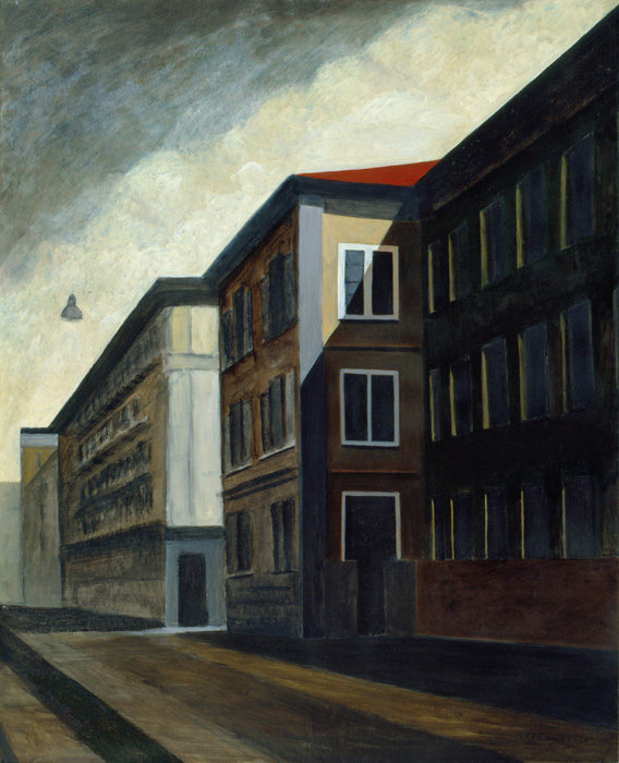 Via Venini, 1996, olio su carta intelata, 100x80 cm