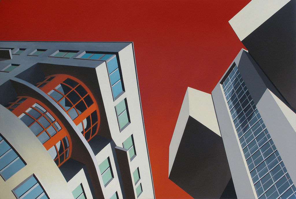 Architettonica, 2006, olio su tela, 170x250 cm