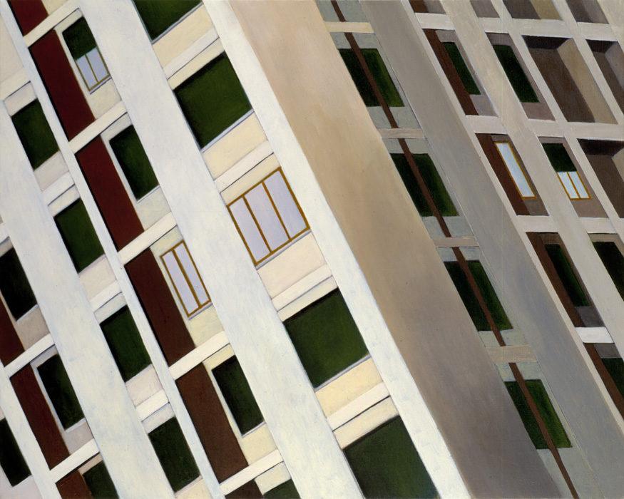 Casa, 1998, olio su tela, 80x100 cm