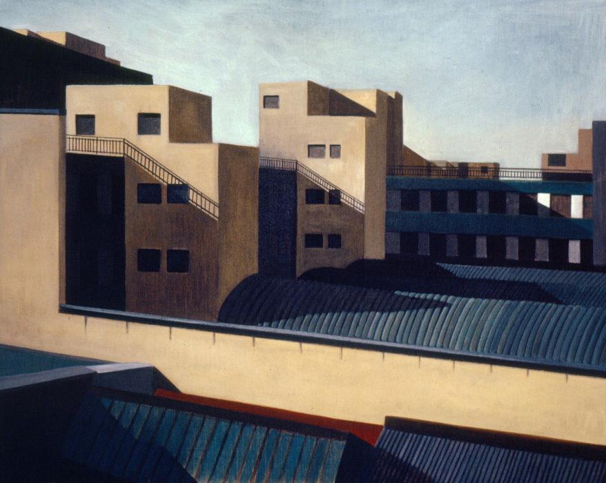 Città, 1997, olio su tela, 80x100 cm