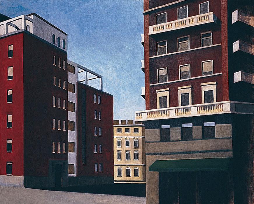 Città, 1998, olio su tela, 80X100 cm