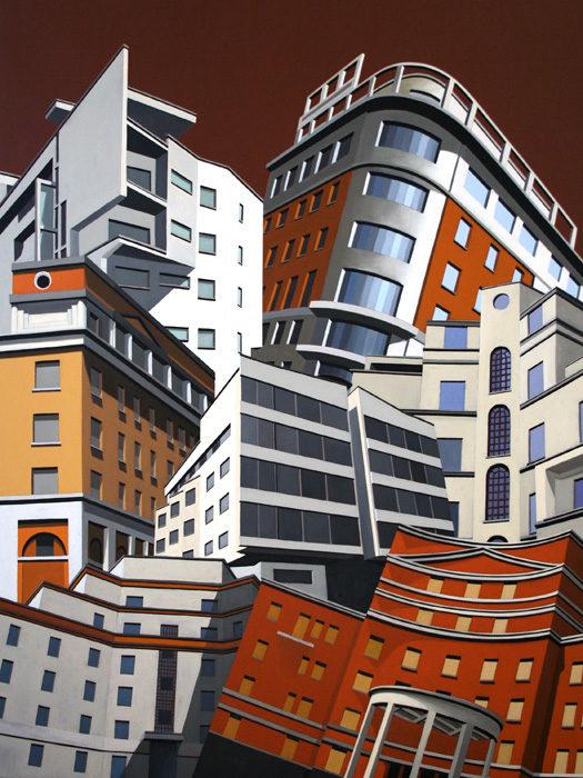 Dalle Belle Città, 2012, olio su tela, 160x120 cm