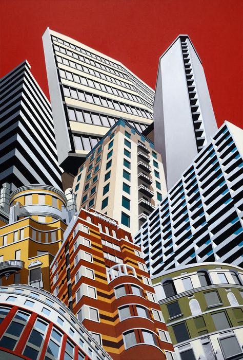 Dalle Belle Città 7, 2013, olio su tela, 250x170 cm