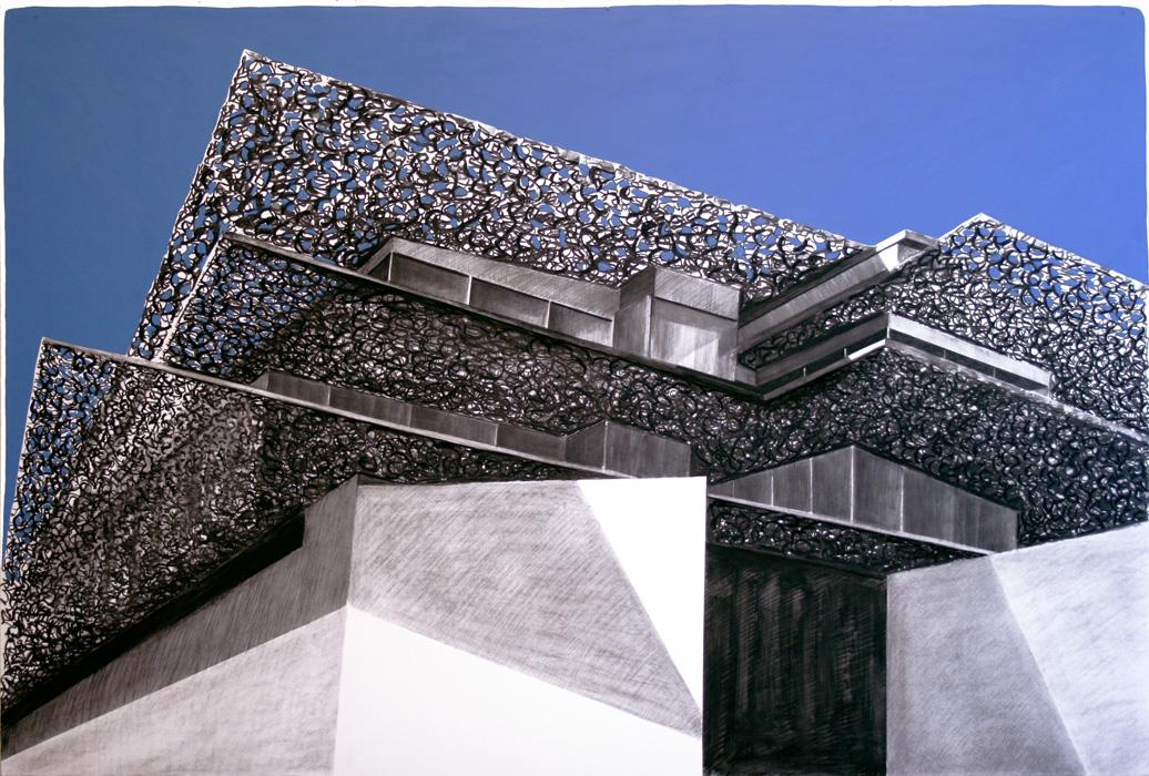 Dubai Dreaming, 2014, carboncino e olio su cartone, 121x181 cm
