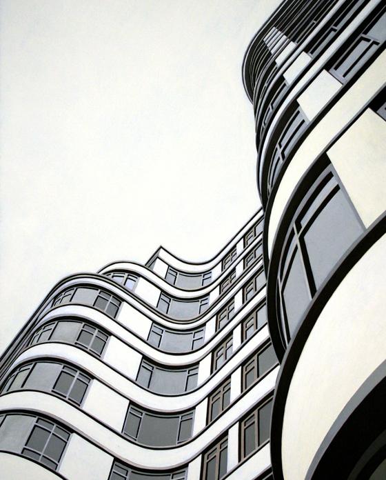 Florin Court, 2010, olio su tela, 100x80 cm