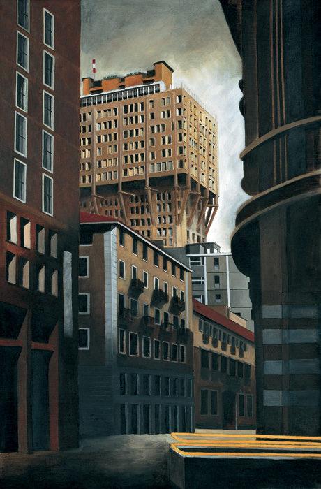 La Velasca, 1996, olio su tela, 200x130 cm