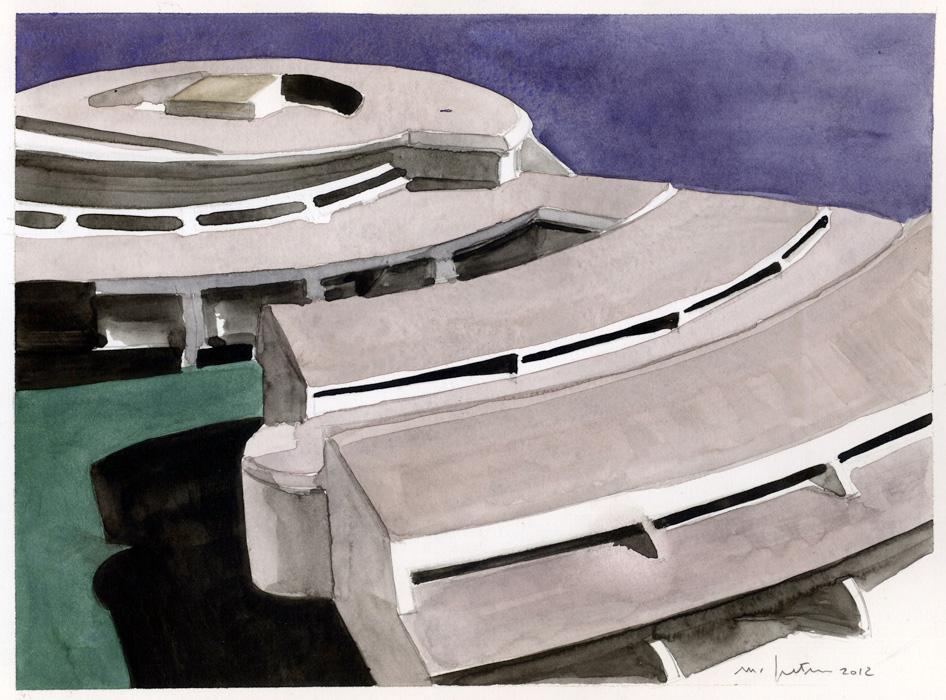 Pieve Emanuele, 2012, acquerelli su carta, 17,6x23,9 cm
