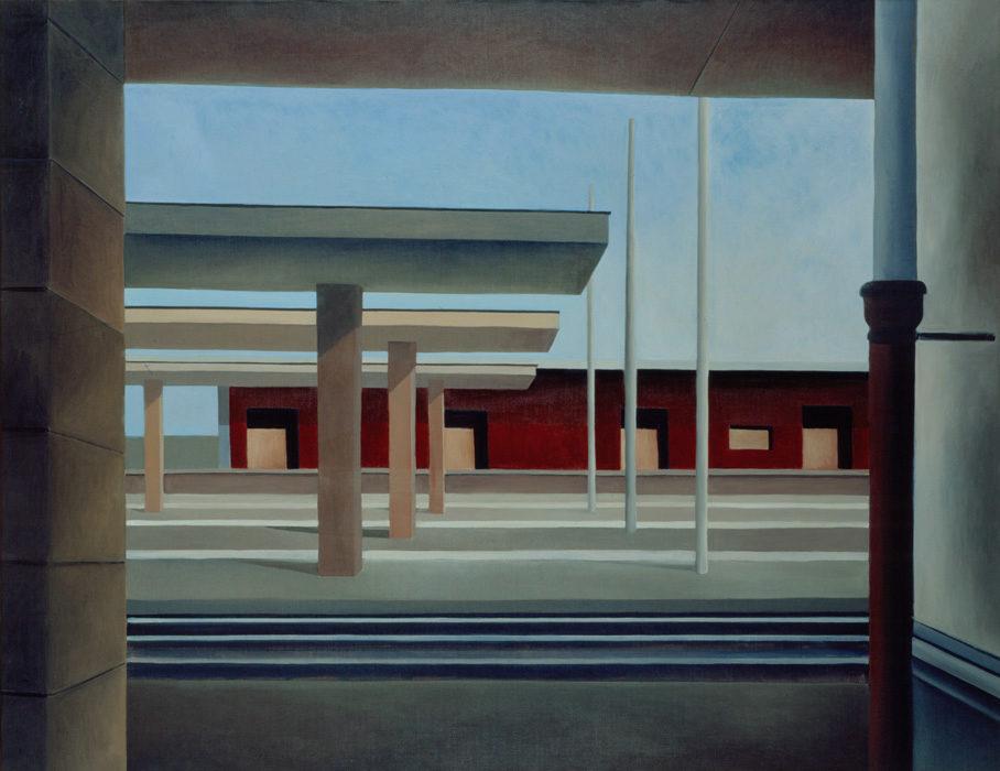 Stazione, 1997, olio su tela, 130x170 cm