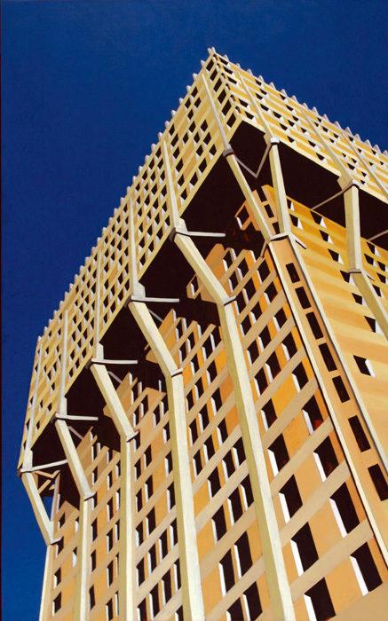Torre, 2005, olio su tela, 160x100 cm