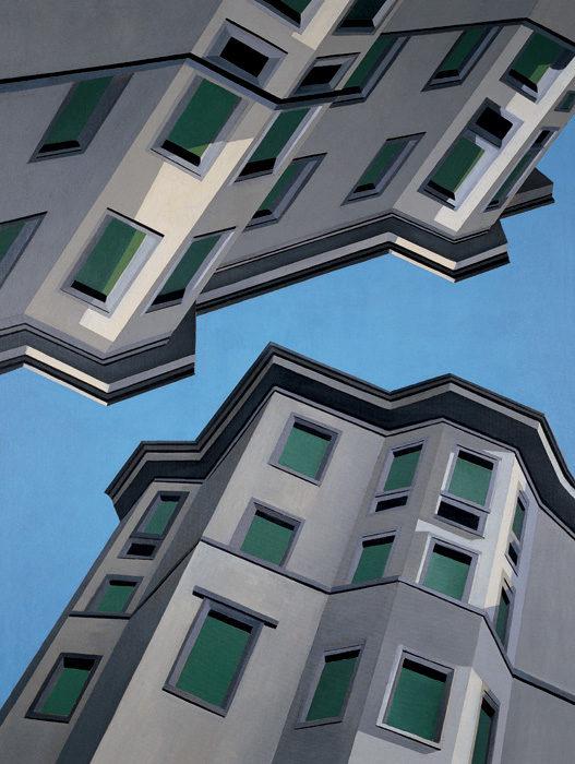 Upside Down, 2002, olio su tela, 160X120 cm