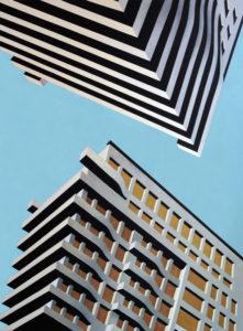 Upside down, 2003, olio su tela, 230X170 cm